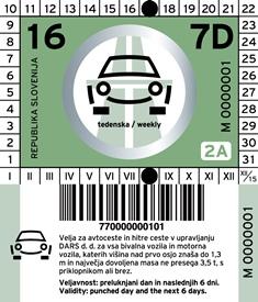 slovinská dálniční známka umístění